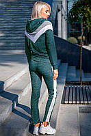 Женский спортивный костюм с капюшоном зеленый (есть в сером и бирюзовом цветах)