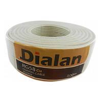 Коаксиальный кабель 50 Ом Dialan RG58 CU (Медь)