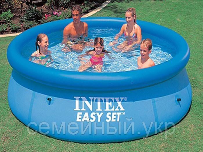 Надувной бассейн. Диаметр 244 см.Высота 76 см.  28110 Intex