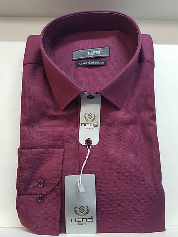 30bd0b06d2a Рубашка NENS оксфорд. Описание. Характеристики. Информация для заказа.  Отзывы о товаре. Приталенная нарядная мужская рубашка бордового цвета ...