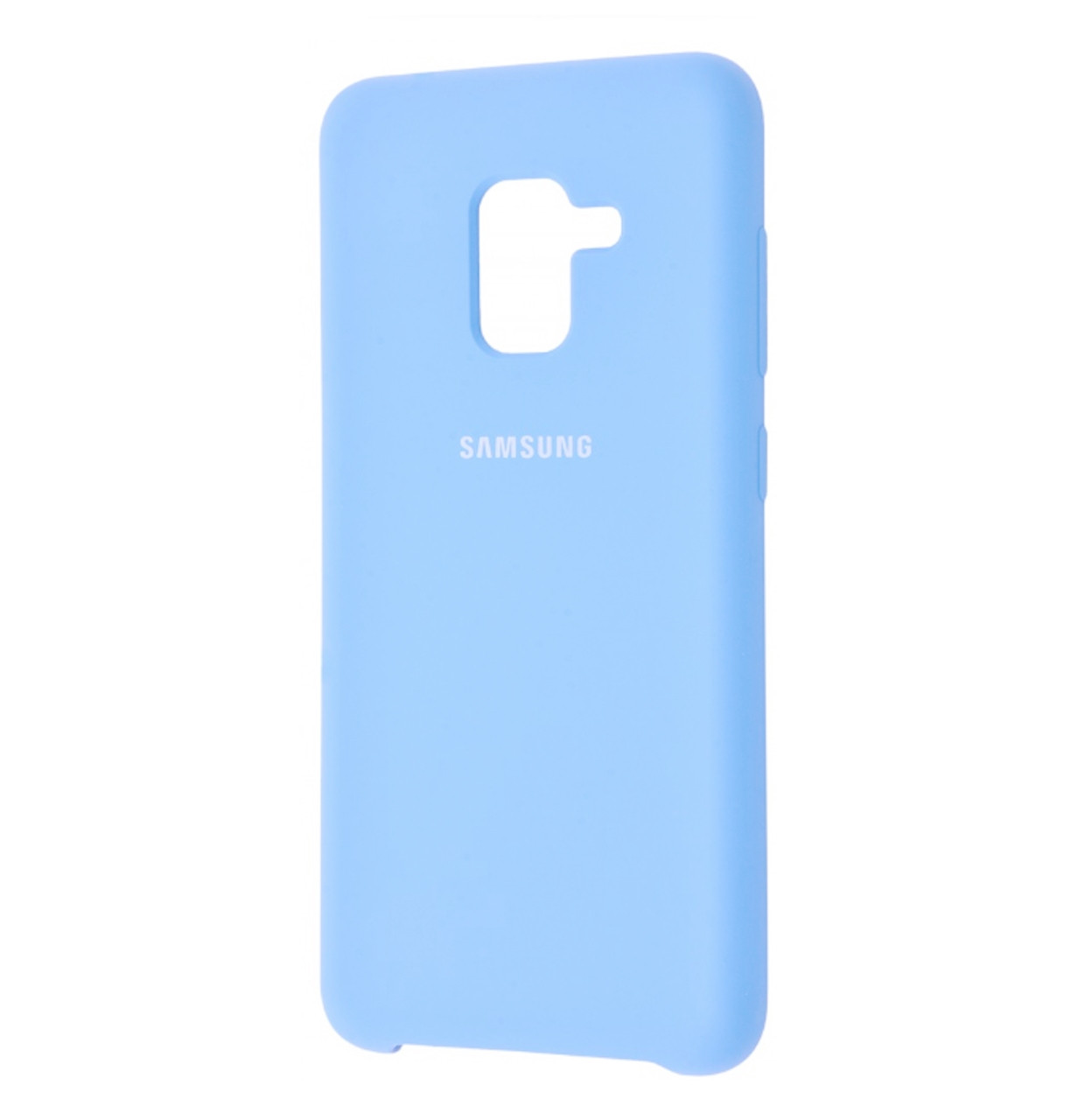 Чехол-накладка Original Silicone case на Samsung Galaxy A8 (2018) SM-A530F Light Blue