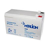 Аккумулятор 12В 7Ач Merlion AGM GP1272F1 для ИБП, UPS, ББП