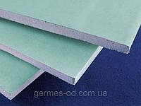 Гипсокартон водостойкий 9,5 мм,Лафарж, 1,2*2,5 м