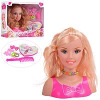 Куклаголова для причесок и макияжа,аксессуары, косметика, кукла - манекен, 198