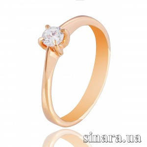 Золотое кольцо с цирконием 18479