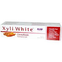 """Зубная гель-паста NOW Foods, Solutions """"Xyli-White"""" вкус корицы (181 г)"""