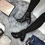 Женские весенние ботинки на каблуку, фото 3