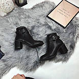 Женские весенние ботинки на каблуку, фото 2