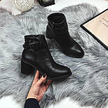 Женские весенние ботинки на каблуку, фото 6