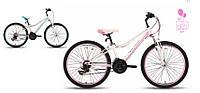 """Велосипед 24"""" PRIDE LANNY бело-розовый матовый 2015"""