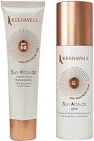 Набор Мультиактивный солнцезащитный крем для лица SPF50 + Мультиактивный спрей-флюид для тела SPF30