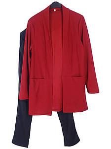 Элегантный женский костюм батал (в расцветках)