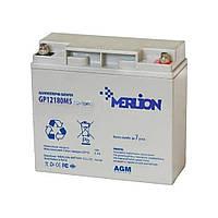 Аккумулятор 12В 18Ач Merlion AGM GP1218M5 для ИБП, UPS, ББП