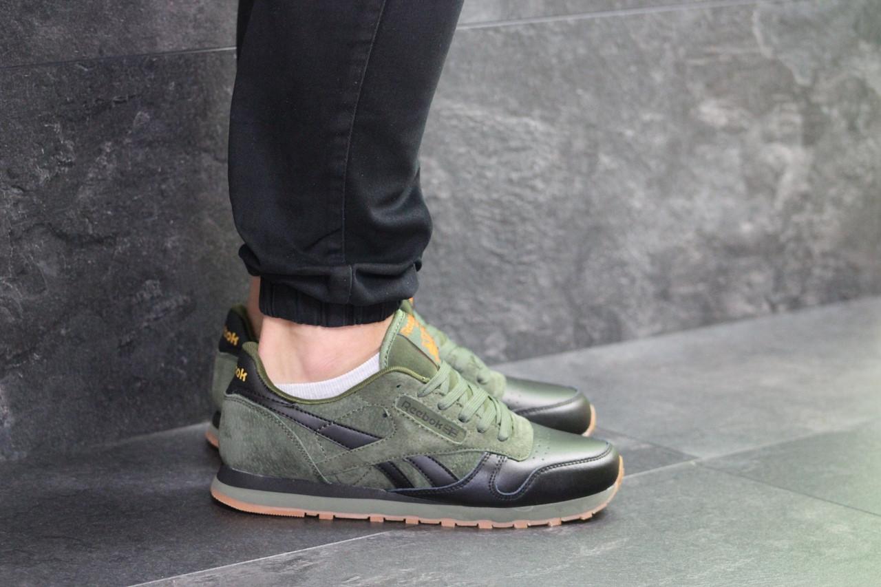 Мужские кроссовки Reebok (зеленые)