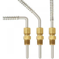 Adjustable compression thermocouple for the plastics machinery industry