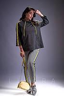 Костюм женский большого размера Likara / трикотаж / Украина 32-811, фото 1
