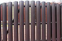 Металевий євроштахетник, колір з 2-х сторін (метал 0,45мм, ширина13 см, довжина до 5м)
