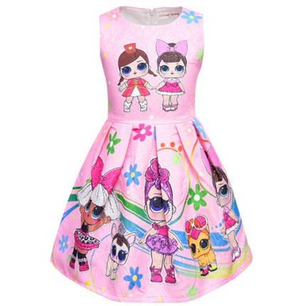 Платье детское на девочку ЛОЛ розовое  2 , фото 2