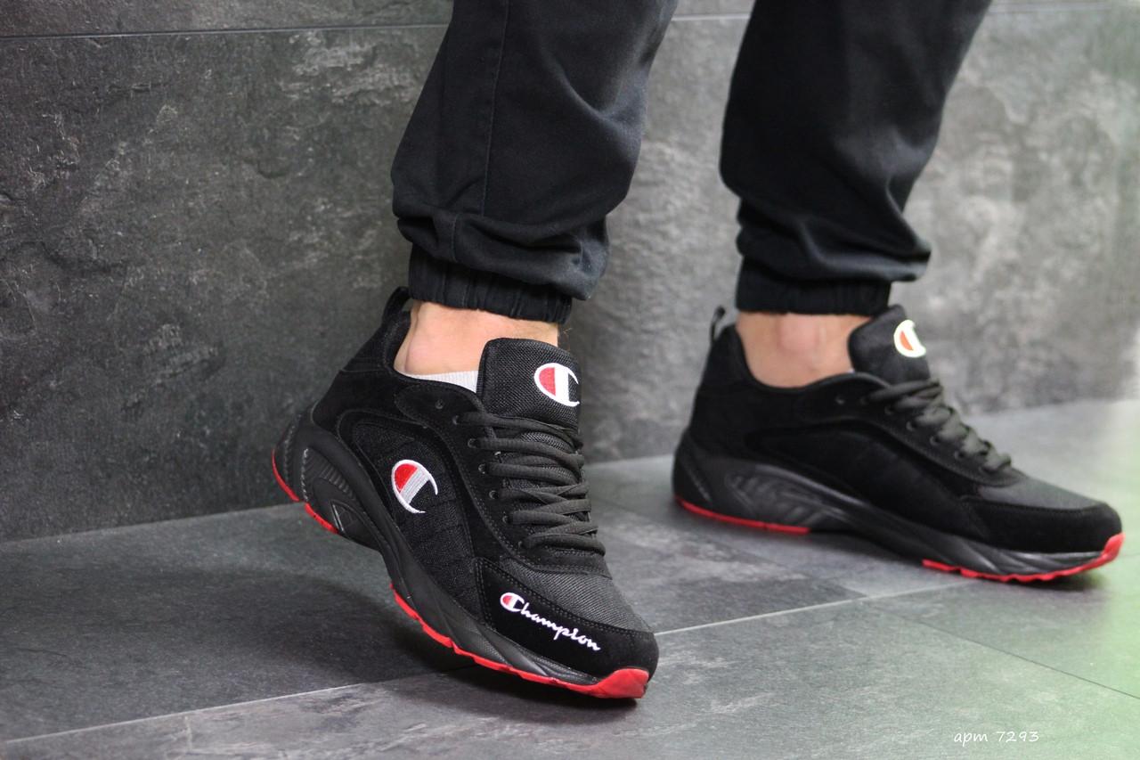 Мужские кроссовки Champion (черно-красные)
