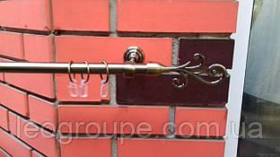 Карниз кованый одинарный 19мм антик Фала -2.4м