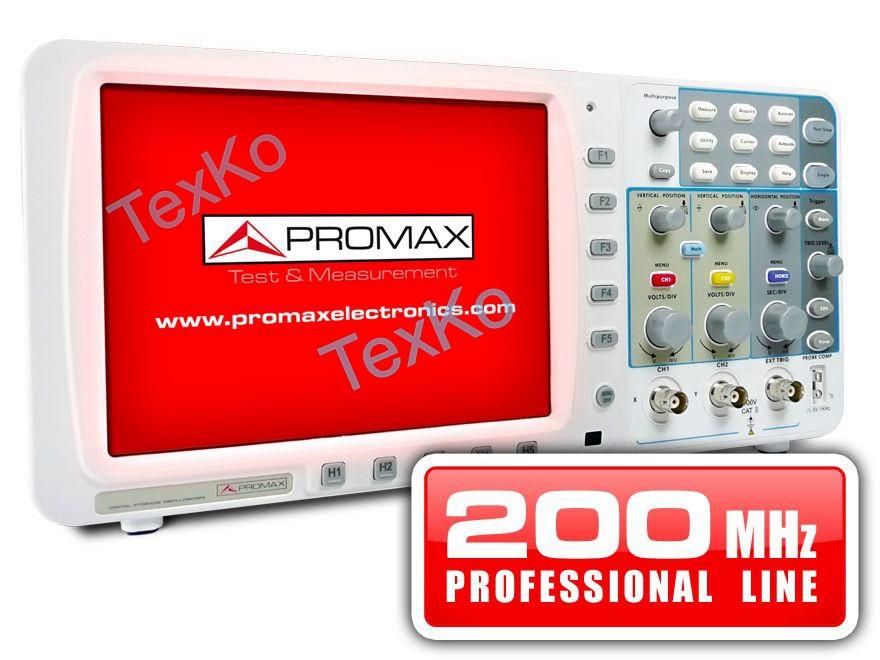 Цифровой запоминающий осциллограф PROMAX OD-620: 200 МГц (профессиональный диапазон)