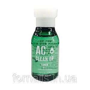 Etude House AC Clean-Up Toner, Тонер для проблемной кожи, 15 мл