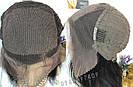 💎Парик из натуральных волос, чёрный с шелком💎 (имитация кожи головы), фото 10