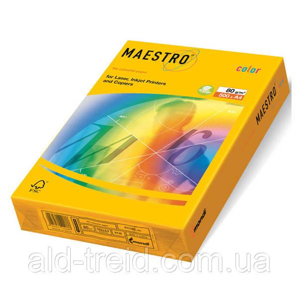 Цветная бумага А4 80 г/м2 SY40 солнечно-желтый