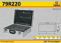 Кейс алюминиевый для инструмента 45x15x32см., TOPEX 79R220