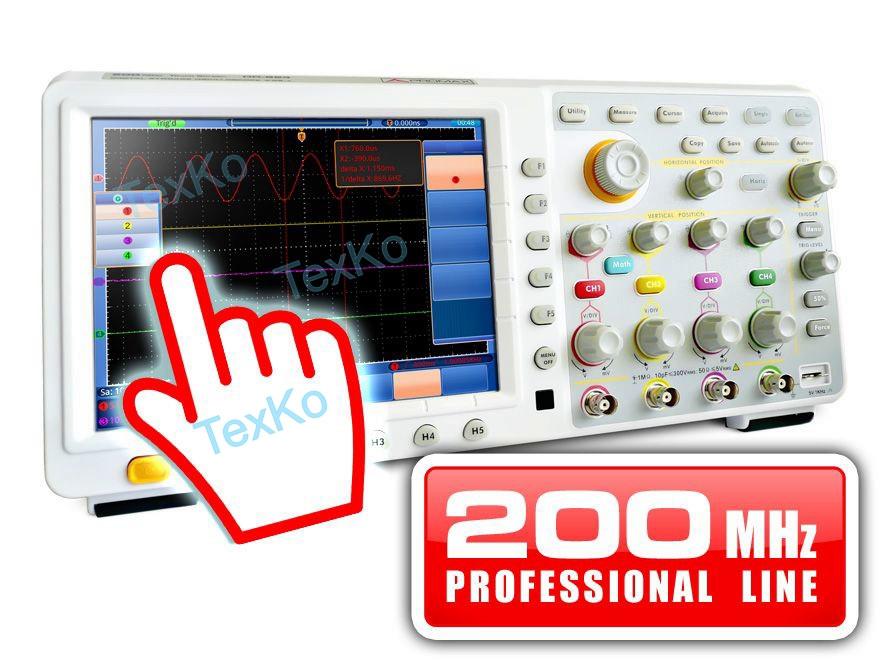 Цифровой запоминающий осциллограф с сенсорным экраном PROMAX OD-624: 200 МГц (профессиональный диапазон)