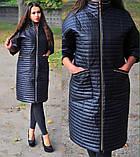 Женская демисезонная куртка Удлиненная Стеганная плащевка на синтепоне Размер 48 50 52 54 56 58 60 62, фото 3