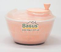 Сушка карусель для салата и зелени пластиковая d-25см (цвет - светло-оранжевый) Irak Plastik SG-230-3