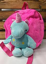 """Детский плюшевый рюкзак розового цвета """"Единорог"""", регулируемые лямки"""
