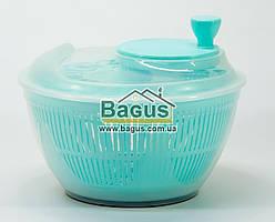 Сушка карусель для салата и зелени пластиковая d-25см (цвет - бирюзовый) Irak Plastik SG-230-1