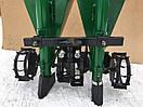 Картофелесажалка мототракторная двухрядная цепная 120 л (трехточечное крепление) , фото 2