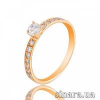 Золотое кольцо с цирконием 23109/22929
