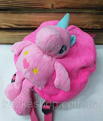 """Детский плюшевый рюкзак розового цвета """"Единорог"""", регулируемые лямки, фото 2"""