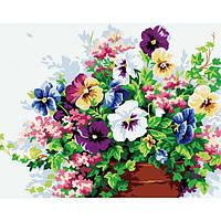 Картина по номерам на холсте Цветы KHO143