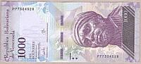 Банкнота Венесуэлы 1000 боливар 2017 г. UNC