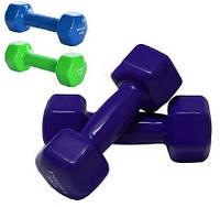 Гантель для фитнеса Profi M 0291 с виниловым покрытием 3 кг 3 цвета