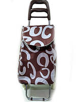 Тачка сумка на колесах кравчучка 96см Stenson MH-1900 Brown
