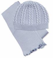 Комплект вязаный (шапка, шарф) для девочек Соня 6668   50