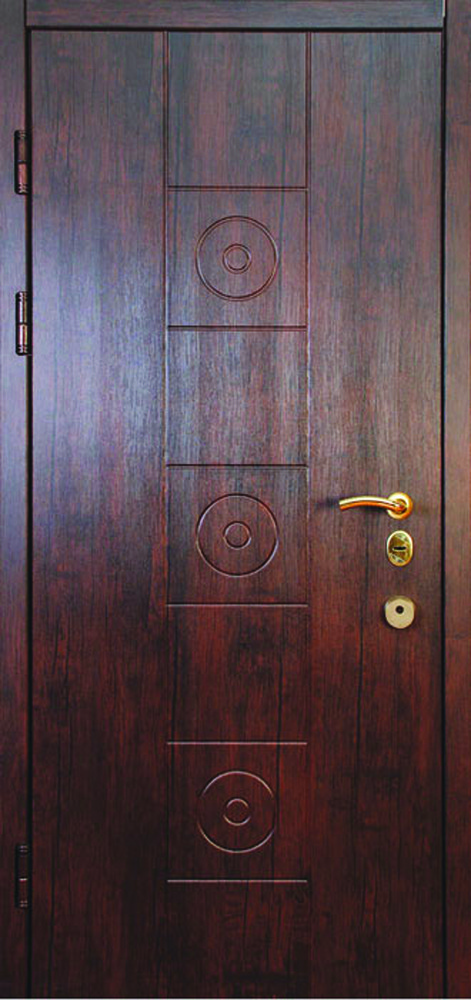 Двері квартирні, модель 151 Преміум 870*2050, метал 2 мм, коробка 110 мм, MOTTURA, глухі, MUL-T-LOCK