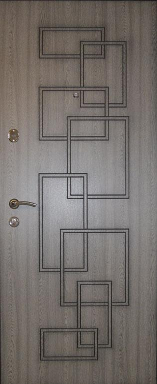 Двери квартирные, модель 152 Комфорт 970*2050, 3 контура уплотнения, коробка 110мм, KALE, патина с двух сторон