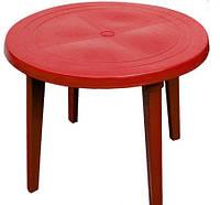 Стол круглый пластиковый D90 см Красный