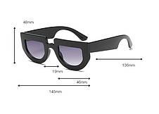 """Желтые солнцезащитные очки в форме """"wayfarer"""", белая оправа, фото 3"""