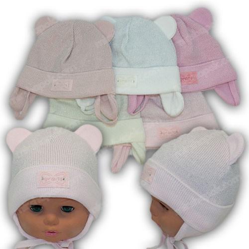 Шапка новорожденную девочку, р. 40-42