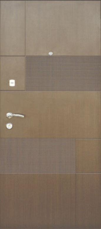 Двери квартирные, модель 153 Комфорт 970*2050, 3 контура уплотнения, коробка 110мм, KALE
