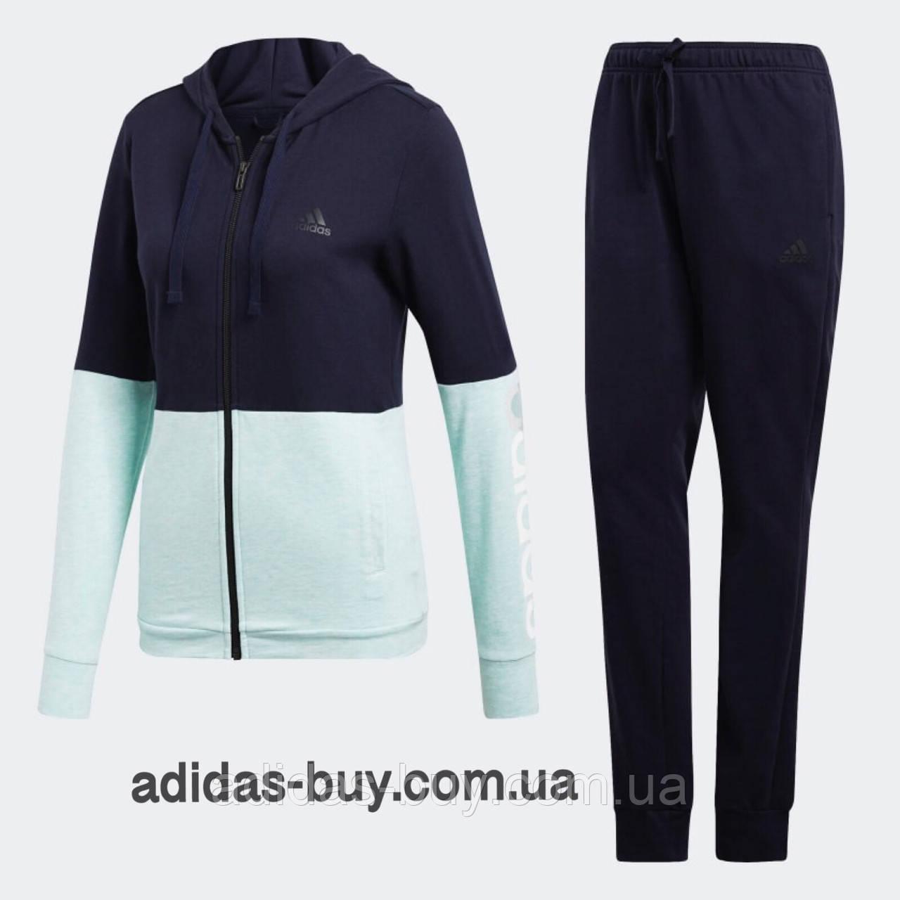 bd013fd2942 Женский костюм adidas оригинальный WTS CO MARKER CY3509 цвет  синий  салатовый - ORIGINAL SHOES
