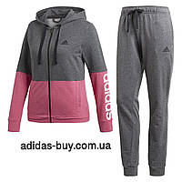 Спортивный женский костюм adidas оригинальный WTS CO MARKER CZ2328 цвет   серый   розовый 3be7f66b23972